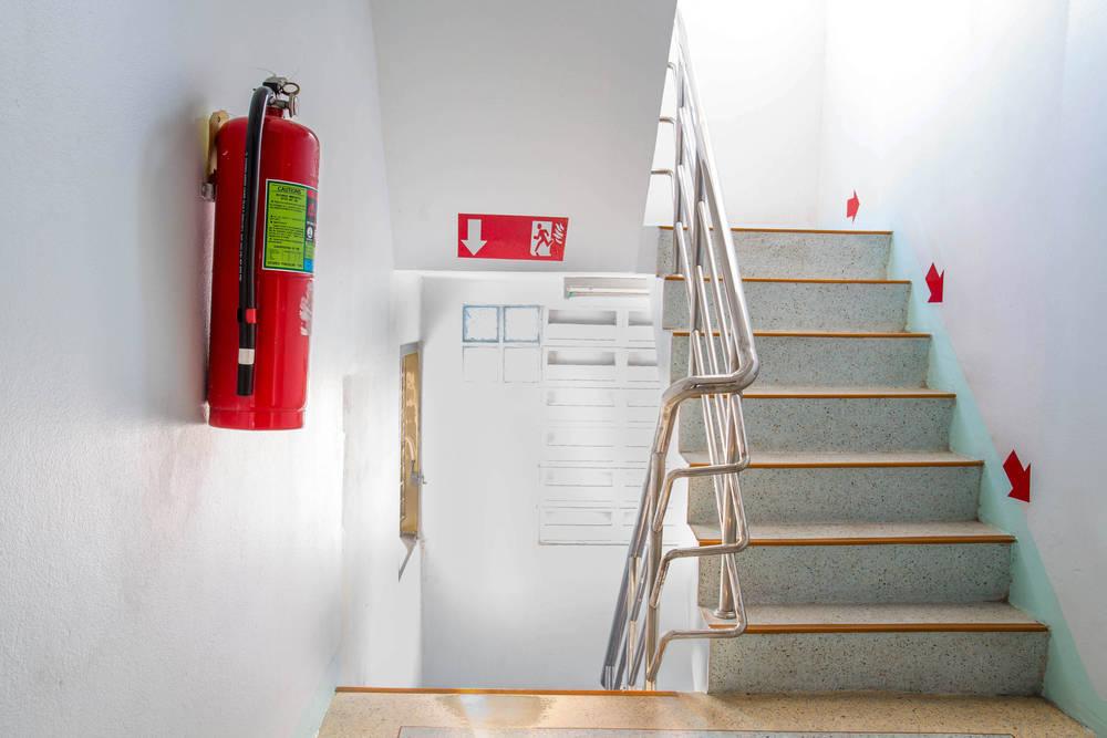 Extintores en los edificios